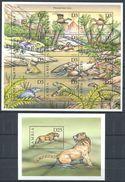 163 GAMBIE 1999 - Faune Prehistorique Dinosaure (Yvert 2780/91 - BF 420) Neuf ** (MNH) Sans Trace De Charniere - Gambie (1965-...)