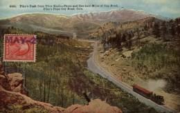 USA - Pike's Peak From Pilot Knob - Trolley - Train - Etats-Unis
