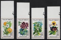 1975, 4 Werte Blumen, Kpl. Satz ,ungezähnt !! MNH,    , #57 - Marruecos (1956-...)
