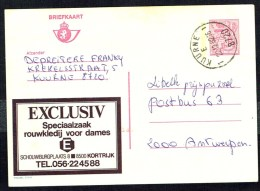 "CP Public. N° 2772  ""   SPECIAALZAAK  ROUWKLEDIJ VOOR DAMES E "" - Circulé / Circulated -1982. . - Entiers Postaux"