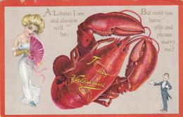 VALENTINE'S DAY , PU-1909 ; TUCK ; Lobster - Saint-Valentin