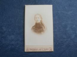 Photo CDV  Tourtin à Rouen  Portrait Jeune Fille Avec Les Cheveux Longs - Circa 1885 - L253 - Old (before 1900)