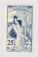 Schweiz UPU 1900 25Rp  #79C Minime Falzspur - 1882-1906 Armoiries, Helvetia Debout & UPU