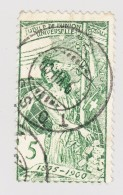 Schweiz UPU 1900 5Rp  #77 Gestempelt Abart R1 Defekte Druckstelle Retouchiert (....SELLE) - 1882-1906 Wappen, Stehende Helvetia & UPU