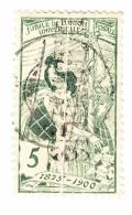 Schweiz UPU 1900 5Rp  #77 Abart Quetsch Falter In Der Mitte - 1882-1906 Wappen, Stehende Helvetia & UPU