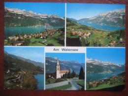 """Quarten (SG) - Mehrbildkarte """"Am Walensee"""" Unterterzen, Oberterzen, Quarten + Mols - SG St. Gall"""