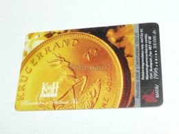 Gold Coin Goldmünze Krugerrand South Africa Sud Afrika Antilope Antilope 1996 Phonecard Hungary - Andere