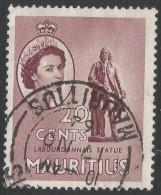 Mauritius. 1953-58 QEII. 20c Used. Mult Script CA W/M SG 299 - Maurice (...-1967)
