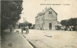 21 - NUITS ST GEORGES - COTE D´OR - LA GARE - CPA ANIMEE - VOIR SCANS - Nuits Saint Georges