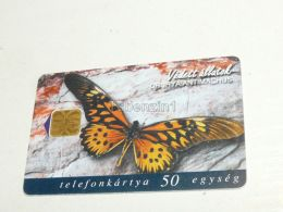 Butterfly Schmetterling Drurya Antimachus Central Africa Afrika 1998 Phonecard Hungary - Tarjetas Telefónicas