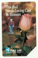 Pakistan - Tessera Telefonica Da 100 Rupie T52 - Rosa, - Fleurs