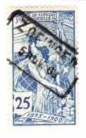 Schweiz UPU 1900 25Rp  #79B Zofingen 5.11.1900 Im Kasten - 1882-1906 Wappen, Stehende Helvetia & UPU