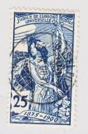 Schweiz UPU 1900 25Rp  #79B Mit Basel 27.9.1900 Vollstempel - 1882-1906 Wappen, Stehende Helvetia & UPU