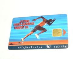 European Championships In Athletics Budapest 1998 Phonecard Hungary - Sport