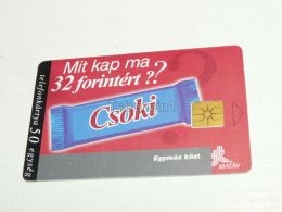 Chocolate Telephone 1998 Phonecard Hungary - Food