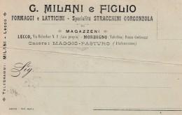 10470-FORMAGGI E LATTICINI-STRACCHINI-GORGONZOLA DI G. MILANI E FIGLIO-LECCO-FP - Pubblicitari