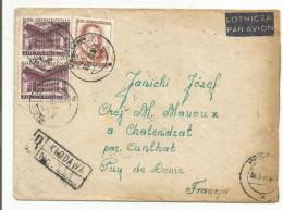 POLOGNE LETTRE RECOMMANDEE AVION DE KLODAWA POUR LA FRANCE DU 8/7/1965 - Machine Stamps (ATM)