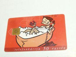 Humor Humour Having Bath With Duck Telephone 1998 Phonecard Hungary - Phonecards