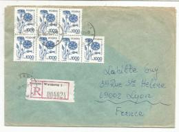 POLOGNE LETTRE RECOMMANDEE DE WARSAWA POUR LA FRANCE DU 30/5/1990 - Marcofilia - EMA ( Maquina De Huellas A Franquear)