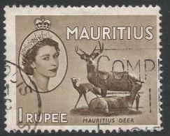 Mauritius. 1953-58 QEII. 1r Used. Mult Script CA W/M SG 303 - Maurice (...-1967)
