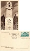 Lot 2 CPA - Villers Bretonneux (80) Entiers Postaux Avec Timbres - Mémorial Australien - Port Gratuit - Villers Bretonneux