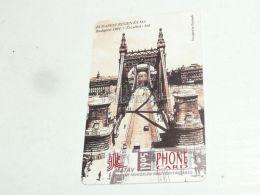 Budapest Erzsébet Híd Elisabeth Bridge Elizabeth Brücke In 1901 And In 1995 Phonecard Hungary - Landscapes