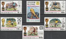 "Korea-Nord 1747-52 ""Gewinner Der Fußballweltmeisterschaften 1930-1978"" MNH / ** / Postfrisch - Korea (Nord-)"