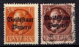 Bayern Mi 134-135 A, Gestempelt [180516VII] - Bavière