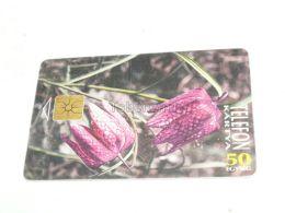 Flower Blume Liliom Lily Lilie 1995 Phonecard Hungary - Bloemen
