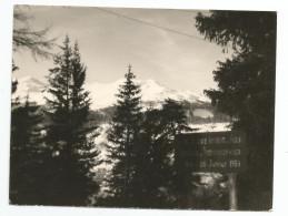 Photographie Valloire - 73 - Savoie - Pancarte Défense De Photographier Terrain Militaire Loi De 1934 Photo 9 X 12 Cm En - Plaatsen