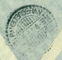 Nederland - Nederlands Indië - 1937 - LB PANGOEROERAN Als Ak-stempel Op Cover Uit Nederland - Nederlands-Indië