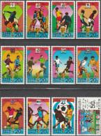 "Korea-Nord 1733-44 ""Geschichte Der Fußballweltmeisterschaften 1930-1978 Austragungsländer"" MNH / ** / Postfrisch - Korea (Nord-)"