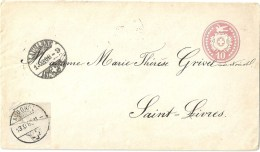 Tüblibrief 5  Lausanne - Aubonne - St.Livres             1868 - Stamped Stationery