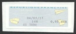 France, Franking Label M # 33, Used - 2000 «Avions En Papier»