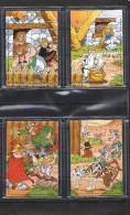 """Puzzle Kinder """" Astérix """" En 4 Parties De 1999 Livrés Complets Avec Bandelettes Et Sous Cache En Plastique. - Puzzles"""