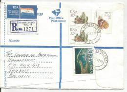 AFRIQUE DU SUD LETTRE RECOMMANDEE AVION DE MIDDELBURG POUR JERSEY 1999 - Afrique Du Sud (1961-...)