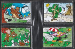 """Puzzle Kinder """" Warner Bros"""" En 4 Parties De 1997 Livrés Complets Avec Bandelettes Et Sous Cache En Plastique. - Puzzles"""