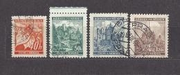 Böhmen Und Mähren Bohemia & Moravia 1940 Gest. Mi. 38-41 Burgen, Städte. Cities And Castles II  C.2 - Bohemia & Moravia