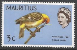 Mauritius. 1968 Birds. New Background Colours. 3c MH. SG 371 - Mauritius (1968-...)