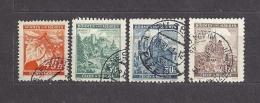 Böhmen Und Mähren Bohemia & Moravia 1940 Gest. Mi. 38-41 Burgen, Städte. Cities And Castles II  C.3 - Bohemia & Moravia
