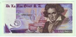 BILLET SPECIMEN ECHANTILLON TEST Distributeur Monnaie Banque De La Rue Giori SA - VARINOTA - Fictifs & Spécimens