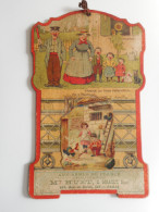 TRES ANCIEN CARTON PUBLICITAIRE Illustré BENJAMIN RABIER, AUX ARMES DE FRANCE, CHAUSSURES, PARIS - Paperboard Signs