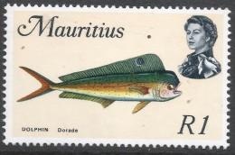 Mauritius. 1969 Sealife. 1r MH. SG 396 - Mauritius (1968-...)