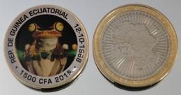 Guinée équatoriale 1500 CFA 2015 Bimetal Couleurs Animal - Guinée Equatoriale