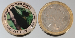 Guinée-Bissau 1500 CFA 2015 Bimetal Couleurs Animal - Guinea-Bissau