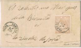 18009. Carta OLMEDO (valladolid) 1867 A Soria. Isabel II - Cartas