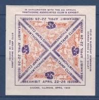 Etats Unis - Vignette Bloc Expo Hawthorne 1935 - Neuf * - TB - Erinnophilie