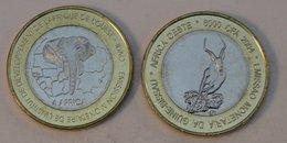 Guinée-Bissau 6000 CFA 2004 Impala Bimetal Animal - Guinea-Bissau