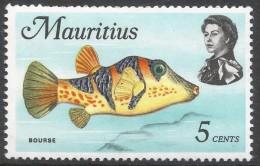 Mauritius. 1969 Sealife. 5c MH. SG 385 - Mauritius (1968-...)