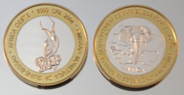 Guinée-Bissau 6000 CFA 2004 Impala Monnaie Bimétallique Précieuse Animal - Guinea-Bissau